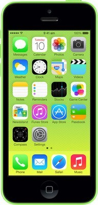 Apple - iPhone 5C (Green, with 8 GB)